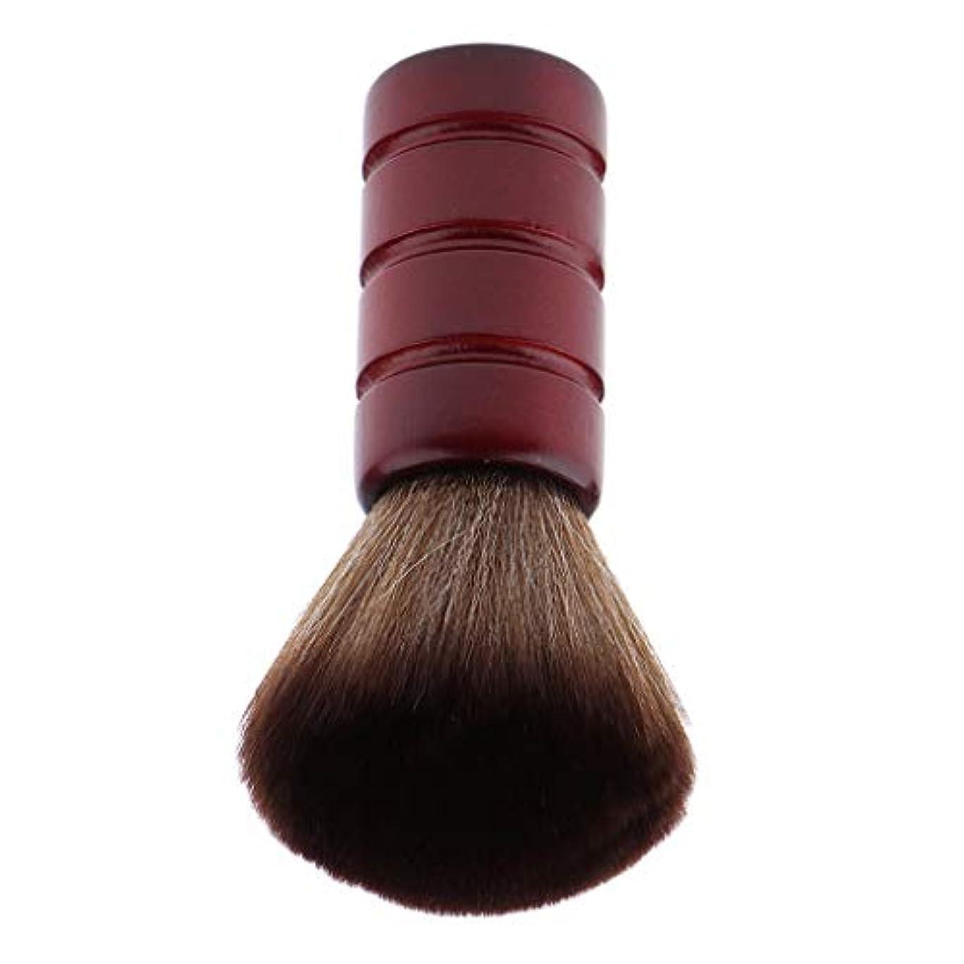 価値ペフ失うF Fityle バーバー ネックダスターブラシ 理髪 サロン 顔のダスターブラシ シェービング ヘアカット ブラシ