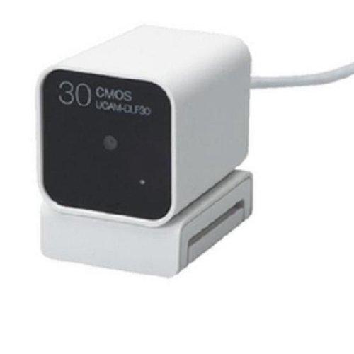エレコム ドライバレス 30万画素CMOS Webカメラ+スタンドマイク(ホワイト) UCAM-DLF30EWH