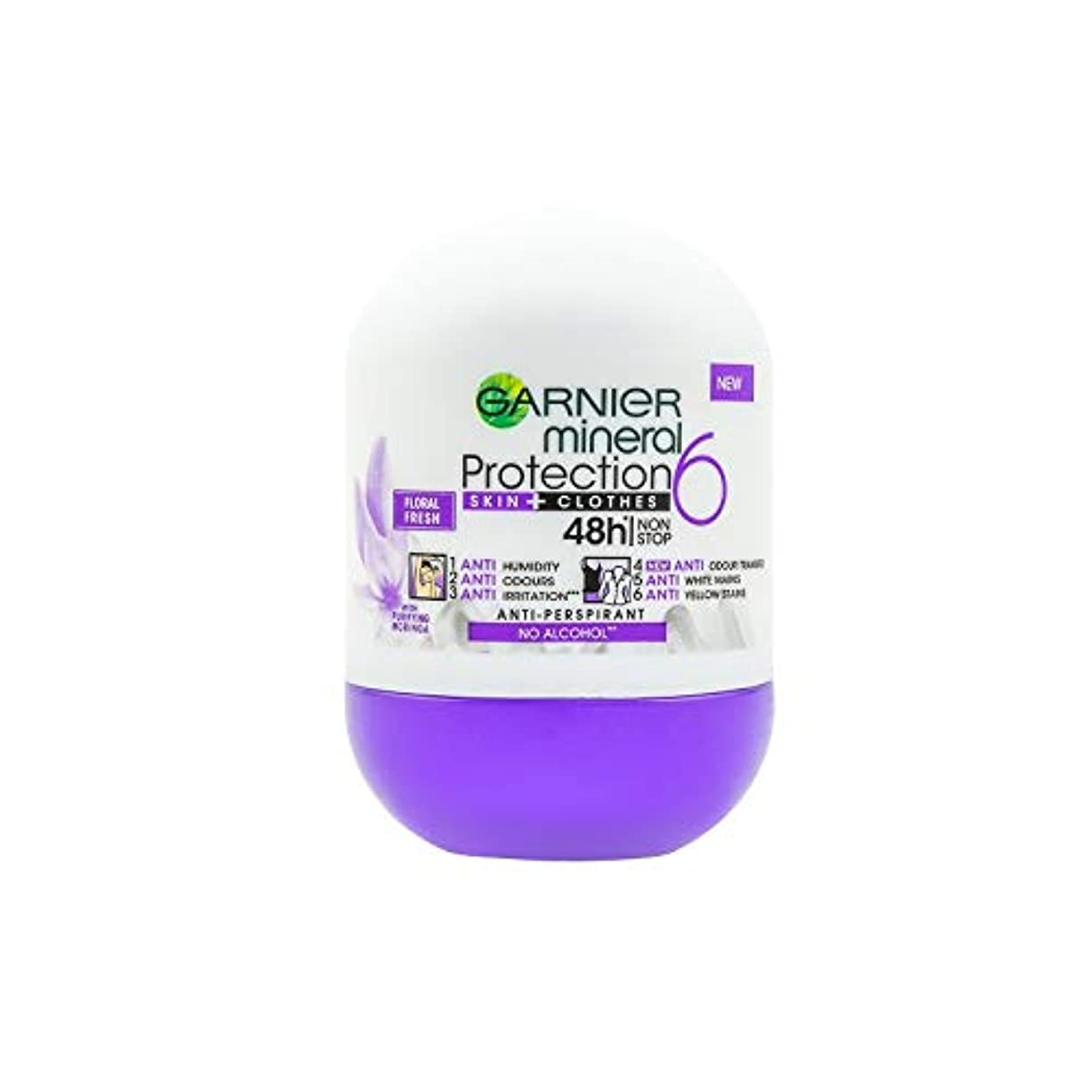 撤退コンテスト夜の動物園Garnier Mineral Protection 5 Floral Fresh Anti-Perspirant Roll-On 50 ml / 1.7 fl oz