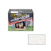 アサヒペン AP 水性外かべ凹凸塗料ツヤあり 7L ホワイト