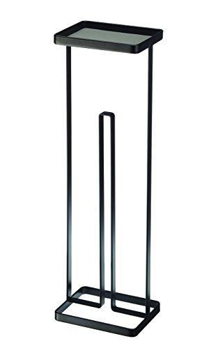RoomClip商品情報 - tower  トレイ付きトイレットペーパースタンド タワー ブラック