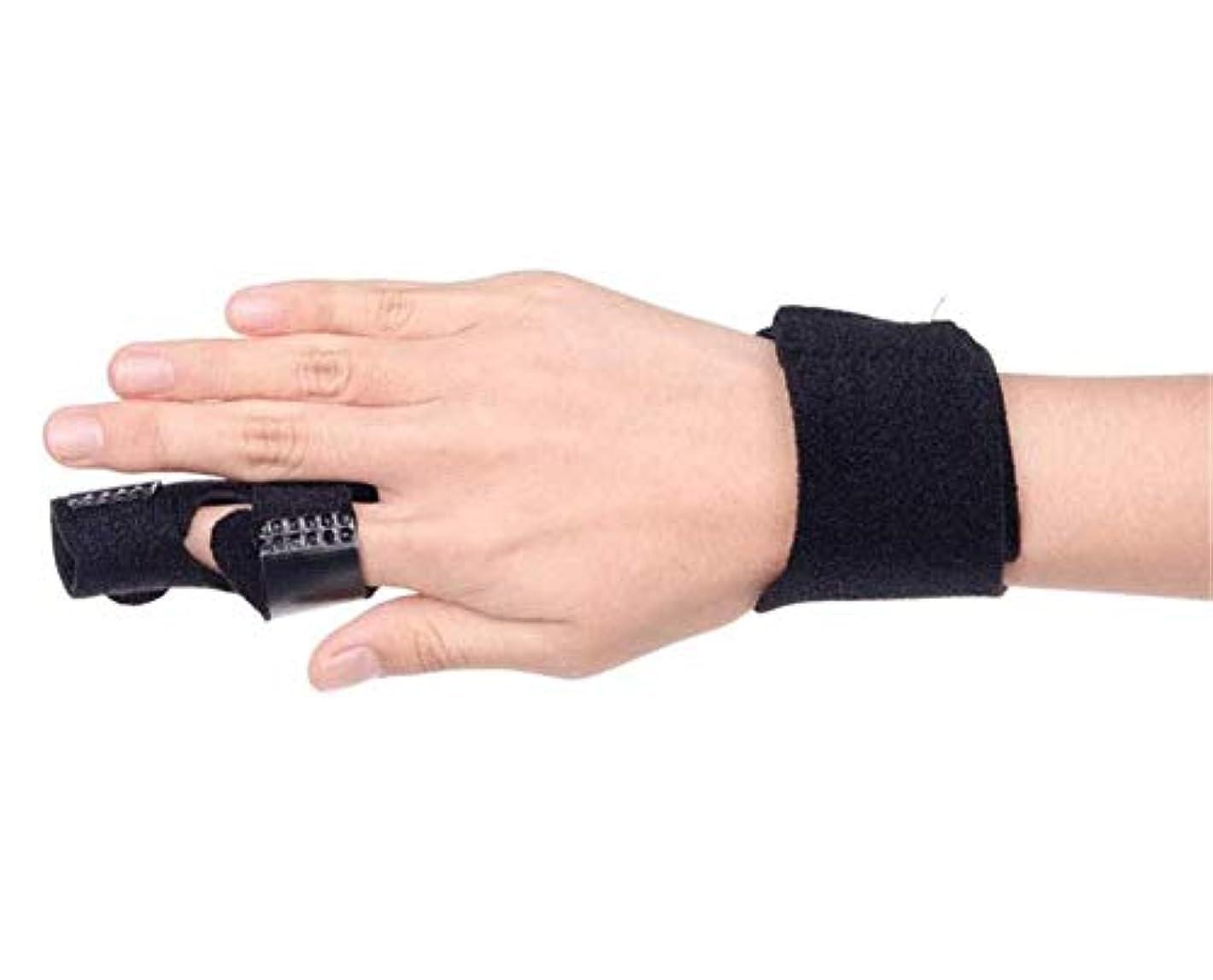 知る睡眠潮ベルトリリースや痛みを固定アジャスタブル - 中指、薬指、人差し指ブレースについてインソールフィンガースプリントを指