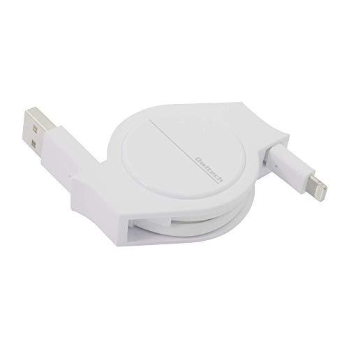 オウルテック 超タフ 巻取り ライトニングケーブル Apple認証 iPhone/iPad 2年保証 120cm ホワイト OWL-CBRKLT12-WH