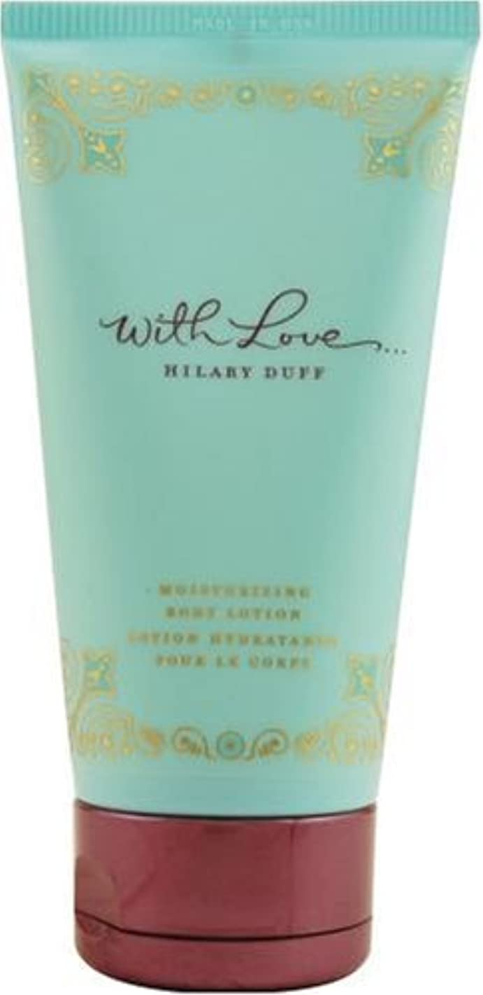 在庫散文小麦粉With Love (ウイズラブ) 5.0 oz (150ml) Body Lotion by Hilary Duff for Women