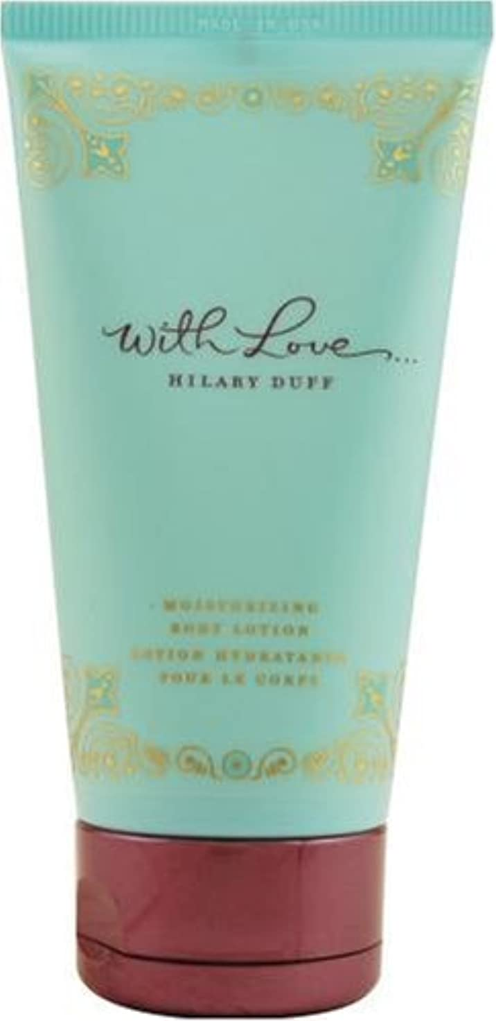 何か飛び込む洗練With Love (ウイズラブ) 5.0 oz (150ml) Body Lotion by Hilary Duff for Women