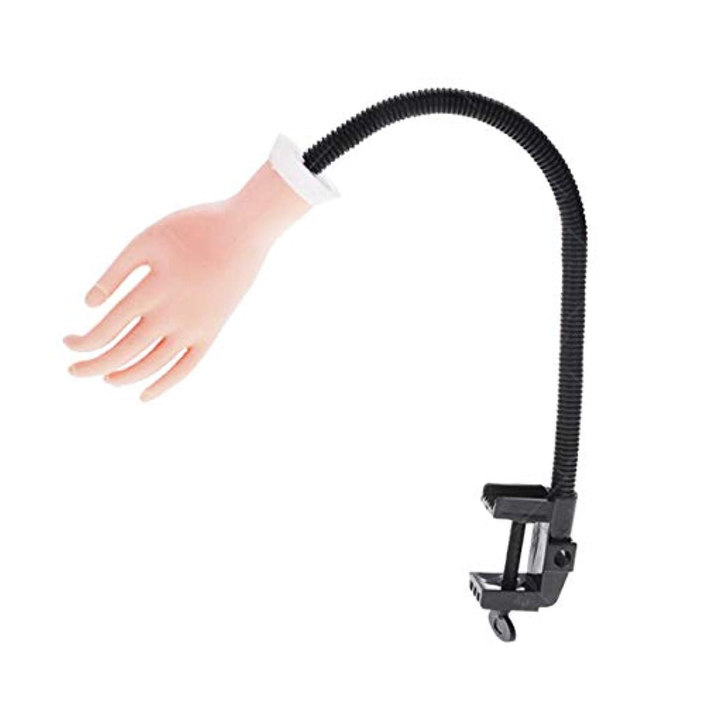 ラリーベルモントクランシー以前はOurine ハンドマネキン ネイルアート 練習手 モデルハンド シリコン 指が曲がれる 360度 手の模型 女 軟質プラスチック マニキュア クリップ付 (単手) (白)