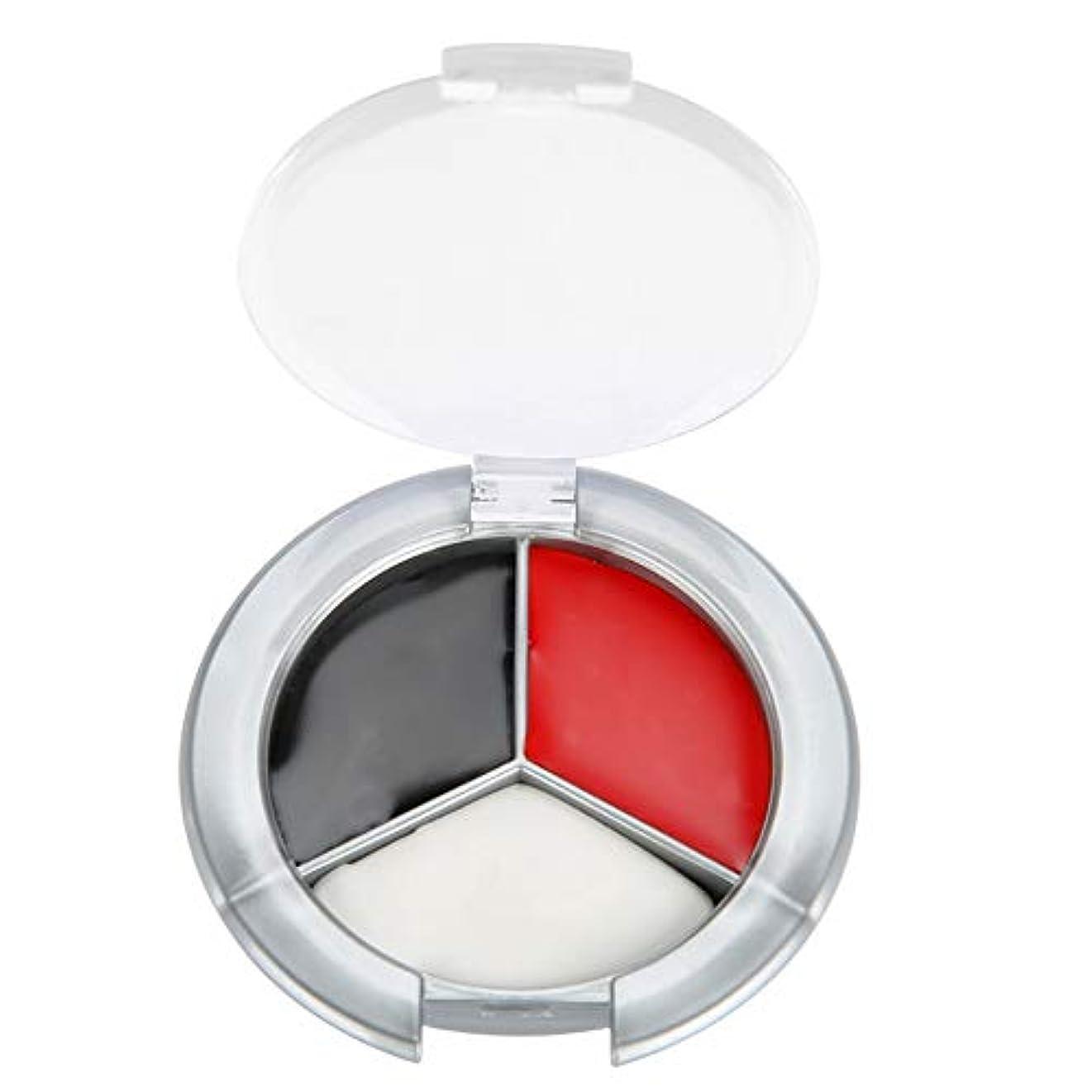 スキーム三角形ハロウィンメイクアップフェイスペイント油、3色プロフェッショナルフェイスボディペイント油絵アートイースターに最適、テーマパーティー、コスプレ、ファンシードレスボール、ステージパフォーマンス(赤、黒、白の3色ペイント)
