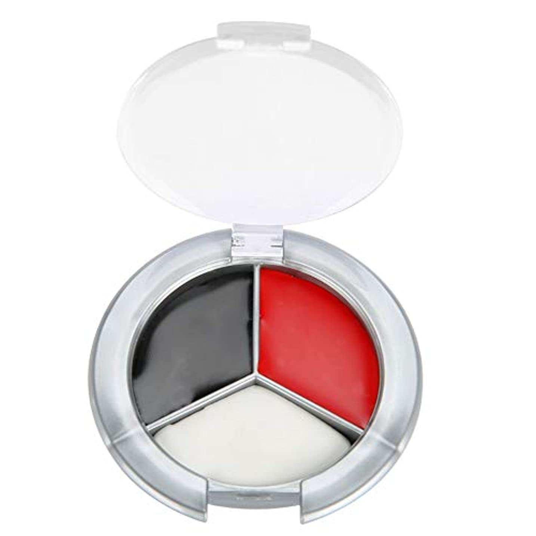 徐々に落胆した計器ハロウィンメイクアップフェイスペイント油、3色プロフェッショナルフェイスボディペイント油絵アートイースターに最適、テーマパーティー、コスプレ、ファンシードレスボール、ステージパフォーマンス(赤、黒、白の3色ペイント)