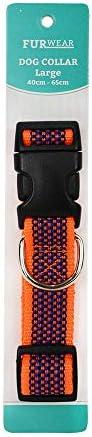 Furwear Dog Fashion Collar, 40-65cm, Orange