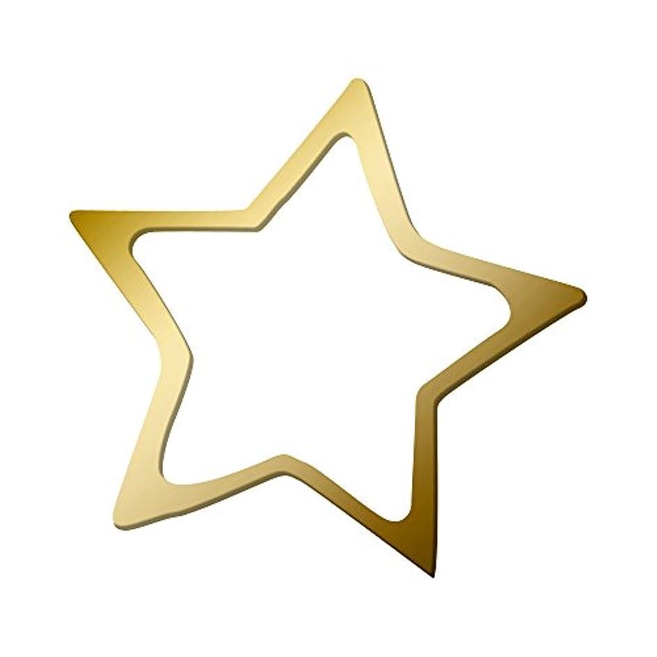 特殊年ずんぐりしたリトルプリティー ネイルアートパーツ スター M ゴールド 10個