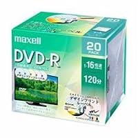 【まとめ 5セット】 maxell DRD120PME20S 録画用DVD-R デザインプリントレーベルディスク 1-16倍 4.7GB 20枚 うす型5mmケース