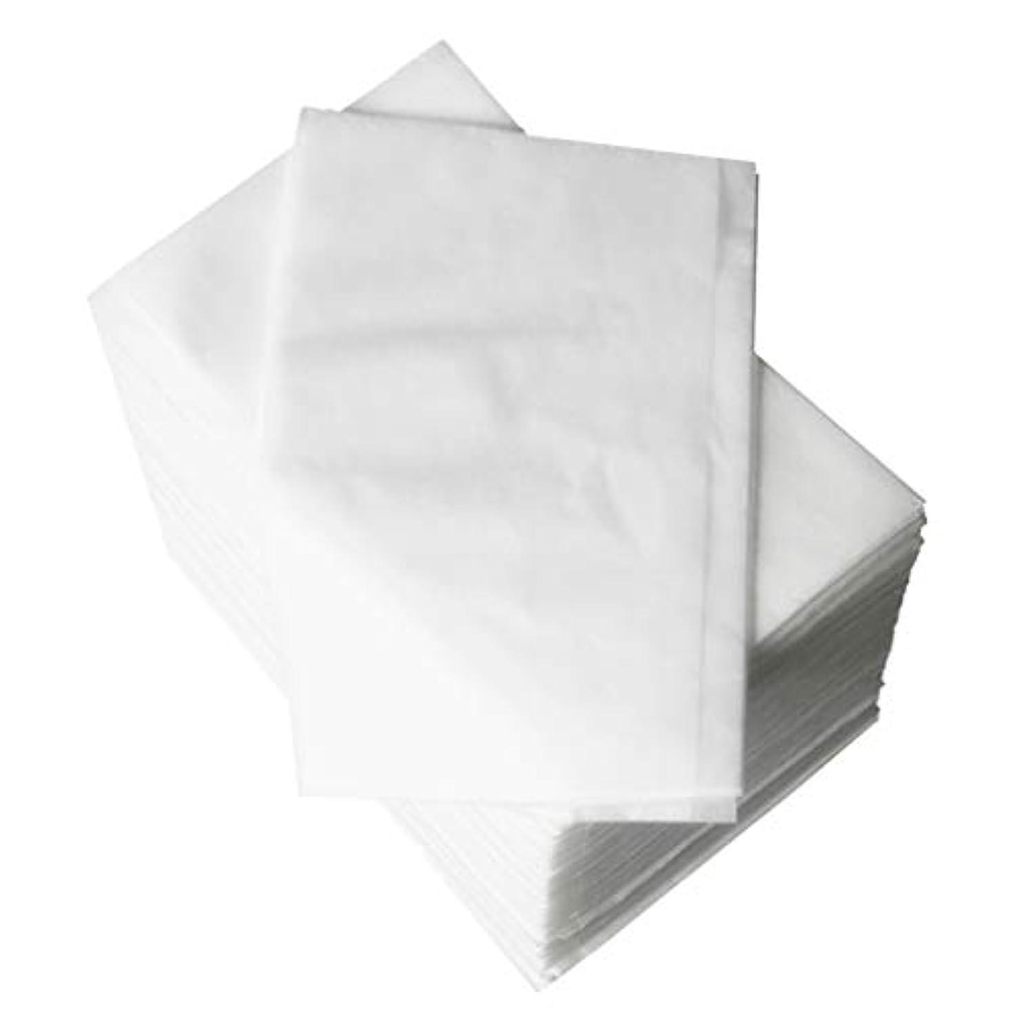 苗損なう失うP Prettyia 使い捨てベッドシーツ 美容シーツ 約80 x 180 cm 約100個 全2色 - 白