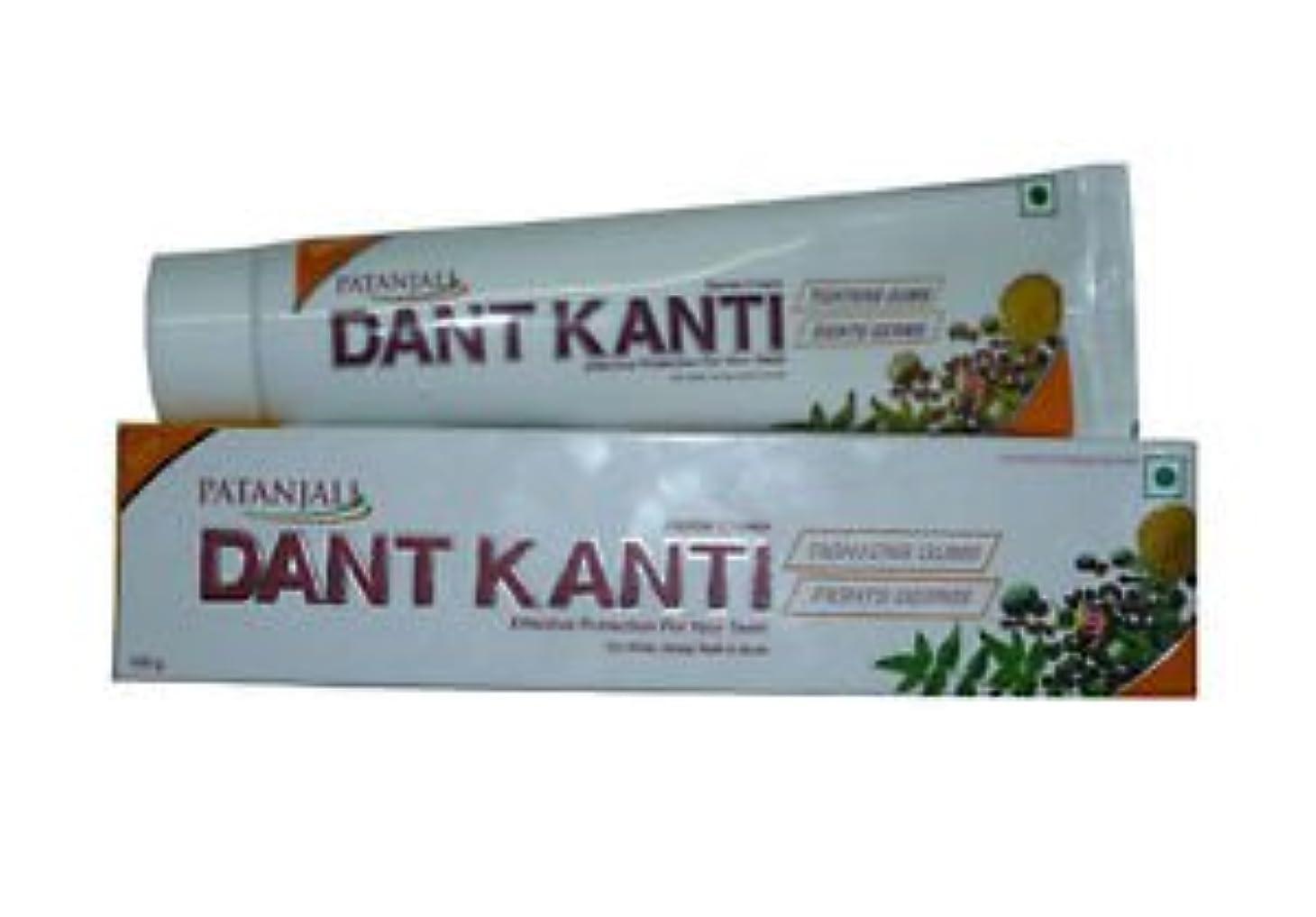 現金ええチャンピオンPatanjali Dant Kanti 歯磨き粉 100 gm (3本セット)