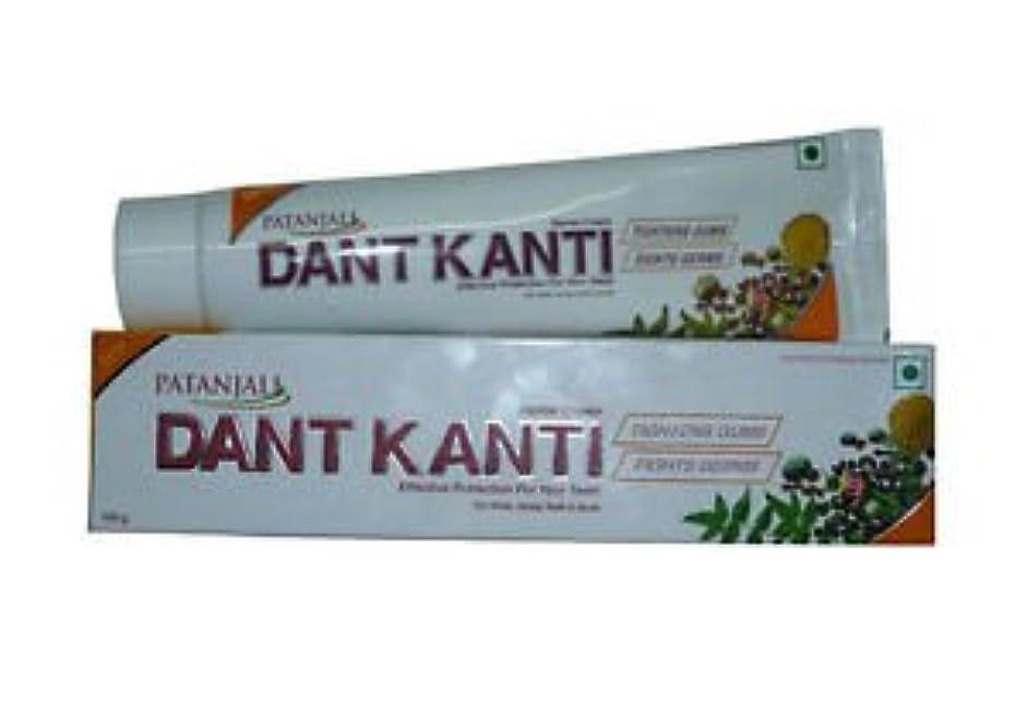 不器用ライオン敵対的Patanjali Dant Kanti 歯磨き粉 100 gm (3本セット)
