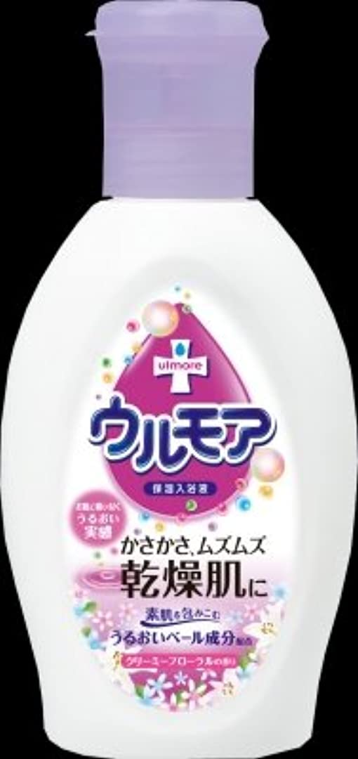 流体飢饉外出アース製薬 ウルモア 保湿入浴液 クリーミーフローラルの香り 600ml(入浴剤)×12点セット (4901080540317)