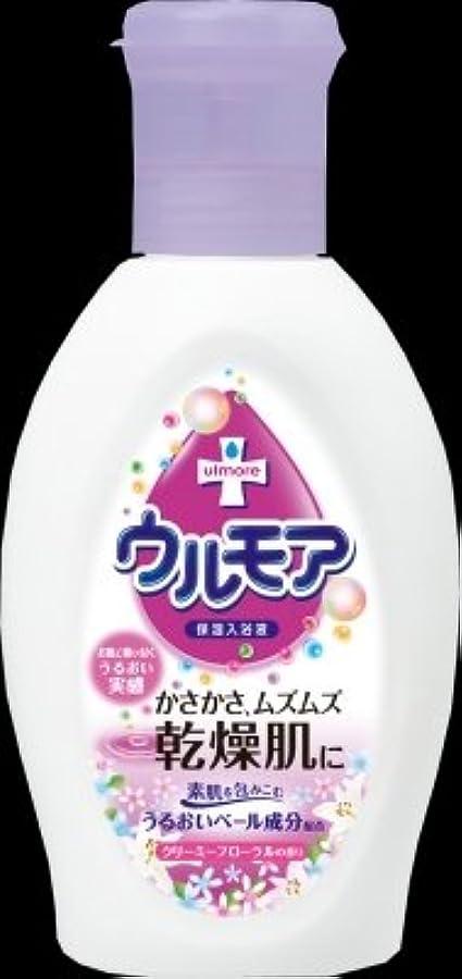 ピンクほこりっぽいアセンブリアース製薬 ウルモア 保湿入浴液 クリーミーフローラルの香り 600ml(入浴剤)×12点セット (4901080540317)