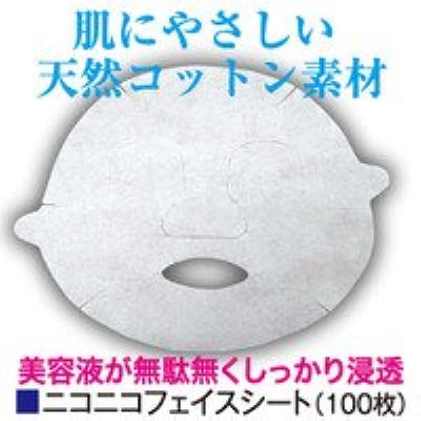 水没魅惑的なたるみフェイスシート 【ニコニコフェイスシート】 100枚