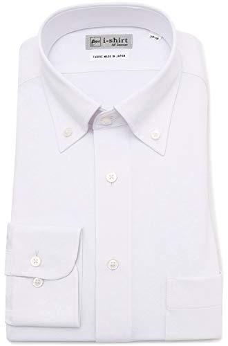 [ハルヤマ] i-shirt 完全ノーアイロン ストレッチ 速乾 長袖 アイシャツ ワイシャツ メンズ オフホワイト ゆったりサイズ 長袖ボタンダウン M151190023 S78(首回り38cm×裄丈78cm)-(日本サイズS相当)