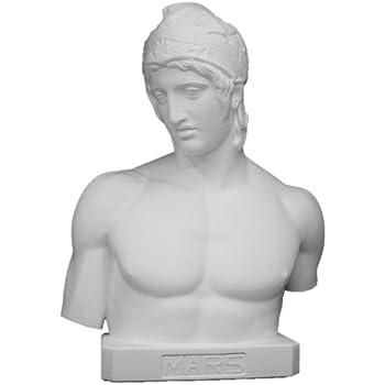 石膏像 K-122 ボルゲーゼのマルス胸像(台付) H.83cm