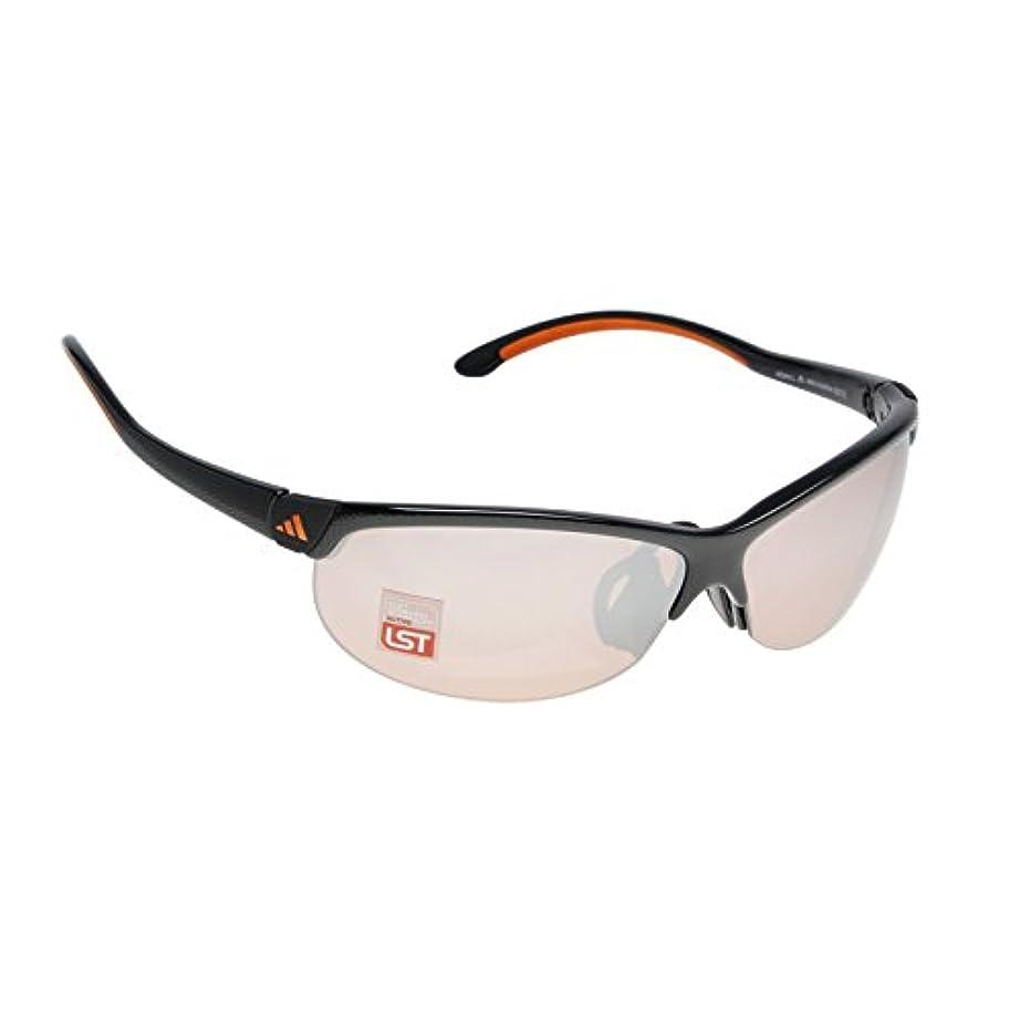 メトロポリタン加害者誇りに思うadidas(アディダス) ADIZERO S カーボンブラック×オレンジ スポーツサングラス A171016079