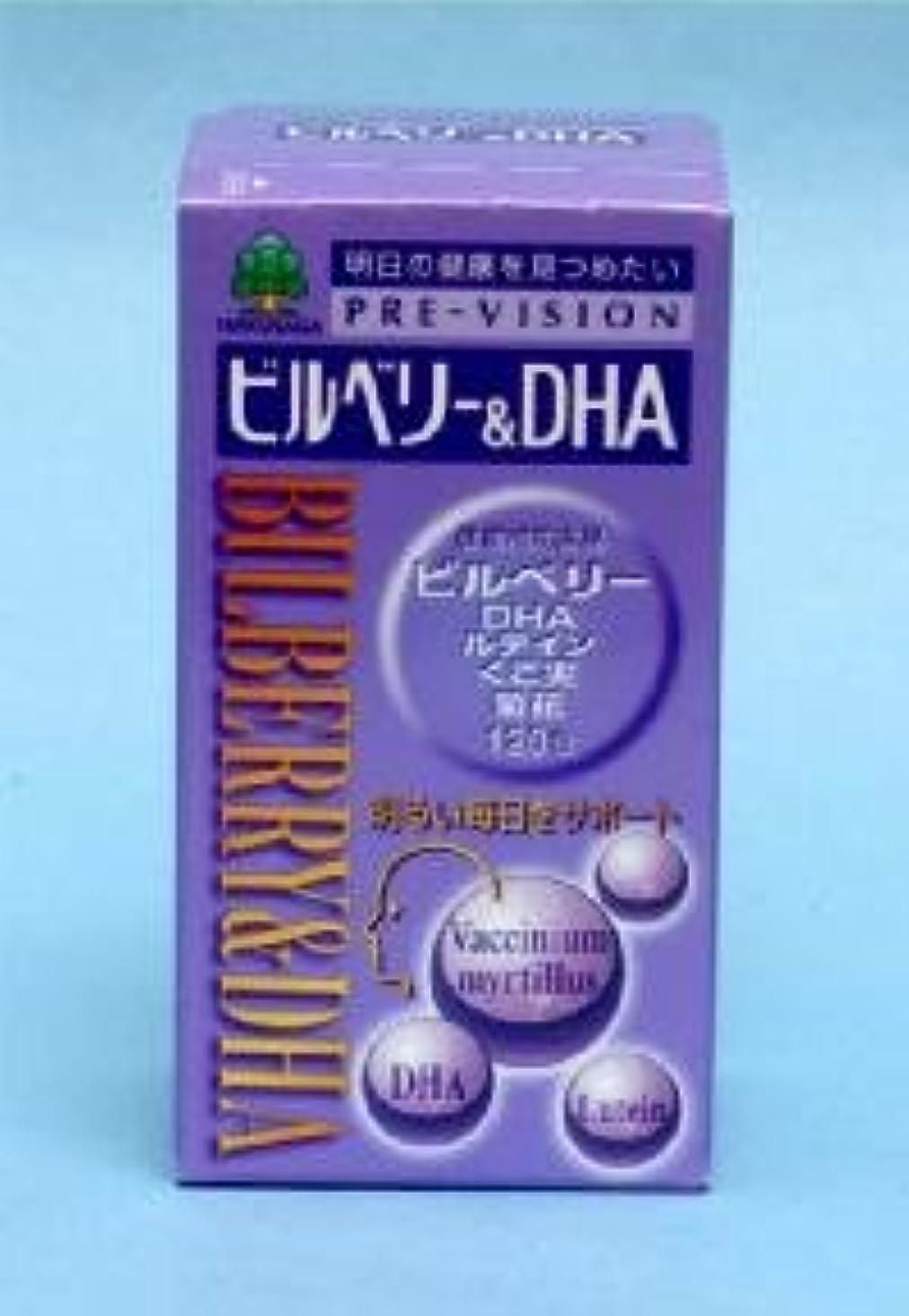 名前を作る評議会蒸発するビルベリー&DHA 120粒 ×2個セット