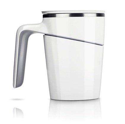 SQ 倒れないマグカップ Mug Cup 【もう倒れない!もうこぼれない!】 ホワイト