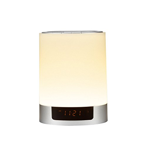 Bluetoothワイヤレススピーカー ベッドサイドライト 多彩LED変換 目覚まし時計 LEDライト スピーカー bluetooth搭載 卓上スタンドライト ワイヤレススピーカー 音楽聴く可能 テーブルランプ
