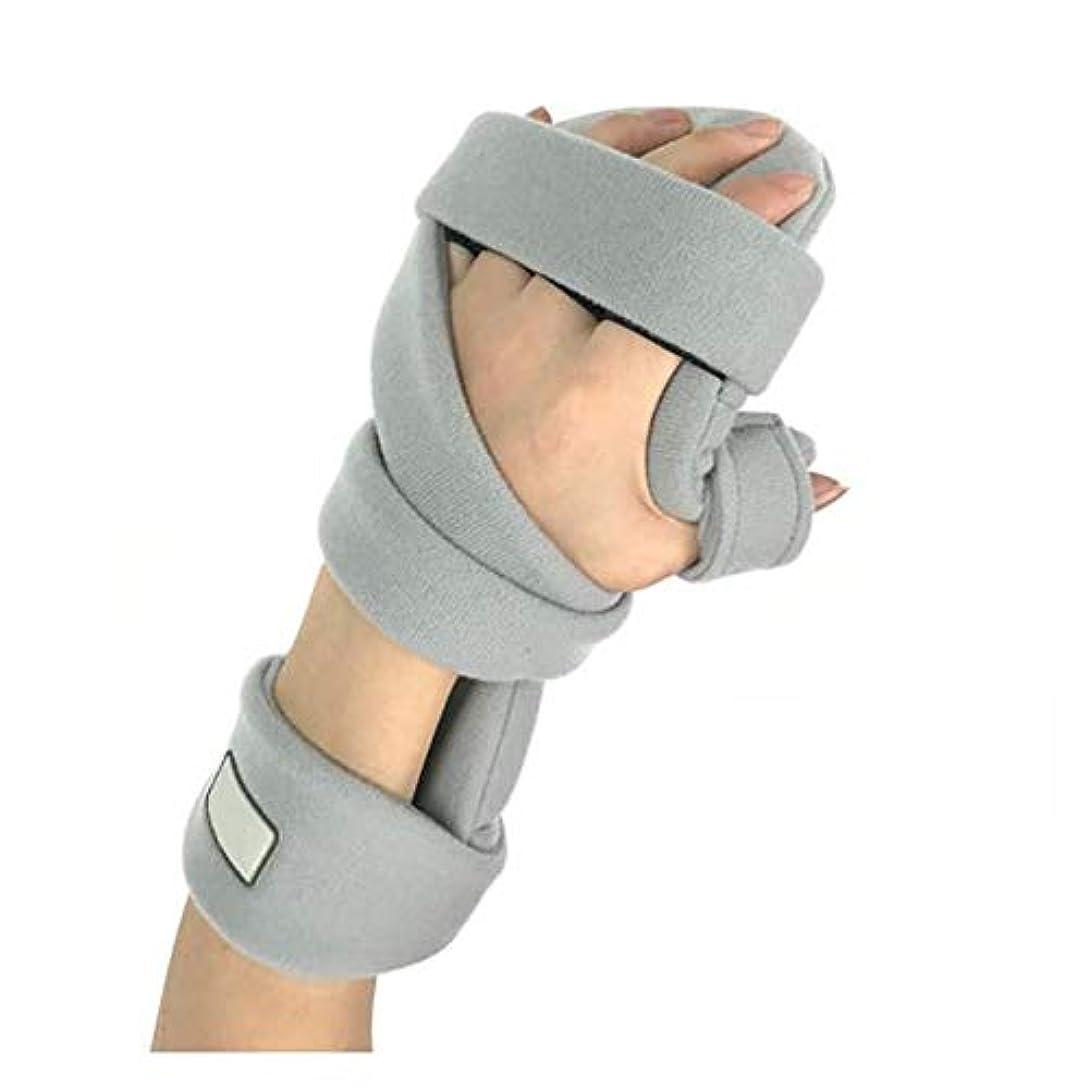 塊祖母セクタ手骨折ナイトレストスプリント、痛み腱炎骨折脱臼のための調節可能な手首ブレース指板,Righthand2pcs