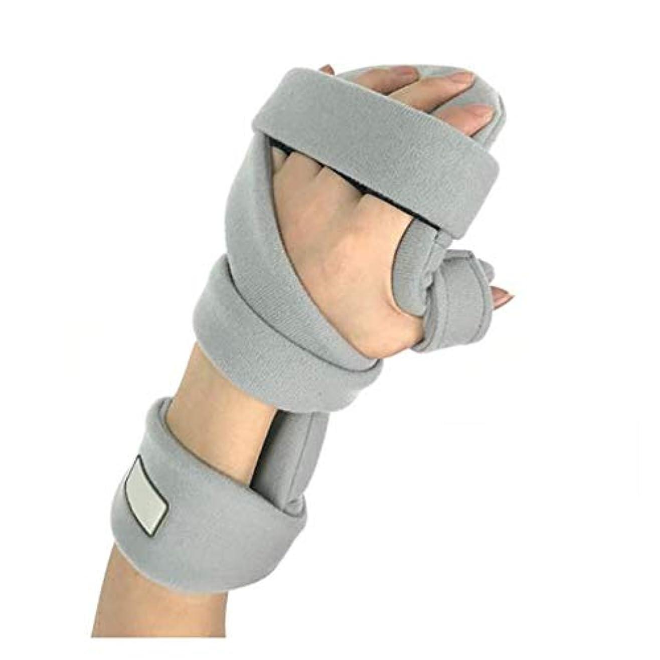 強制的地震温帯手骨折ナイトレストスプリント、痛み腱炎骨折脱臼のための調節可能な手首ブレース指板,Righthand2pcs