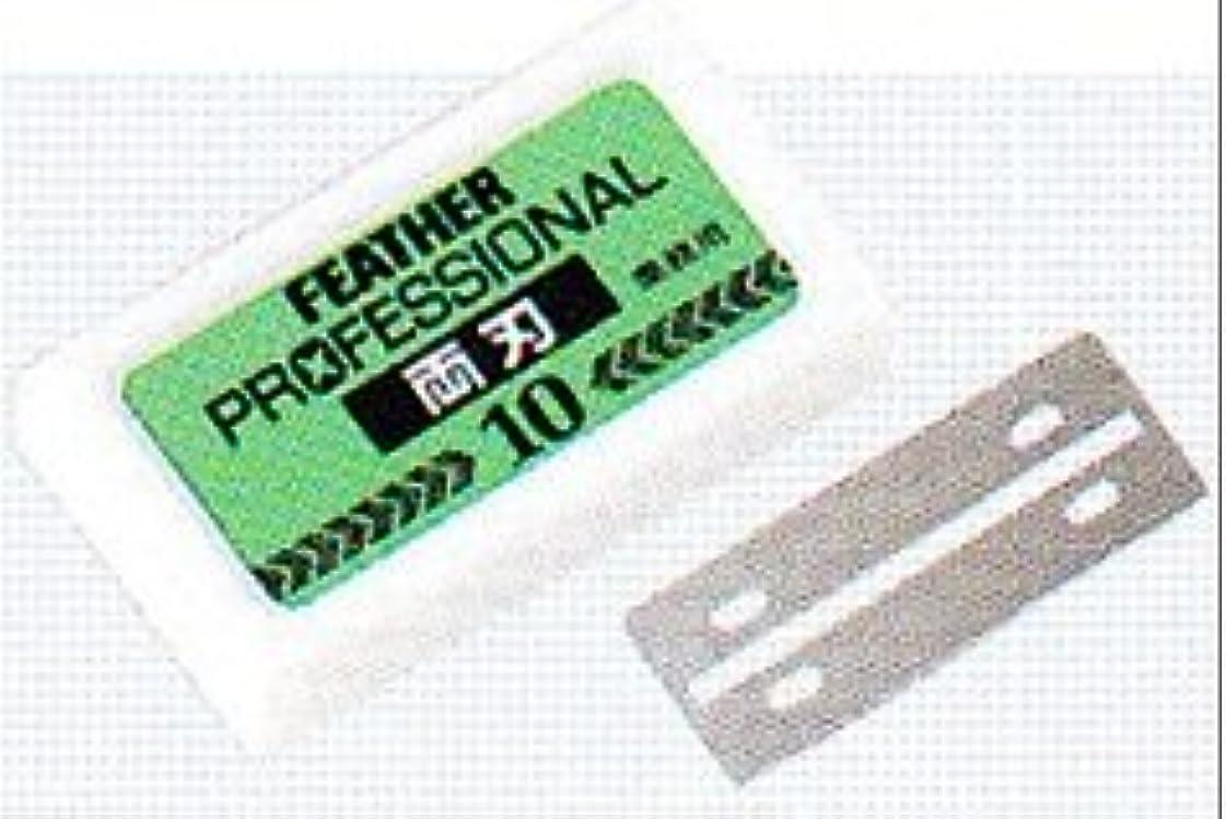 ショートカット予算指標フェザー プロフェッショナル 両刃 替刃 10枚入
