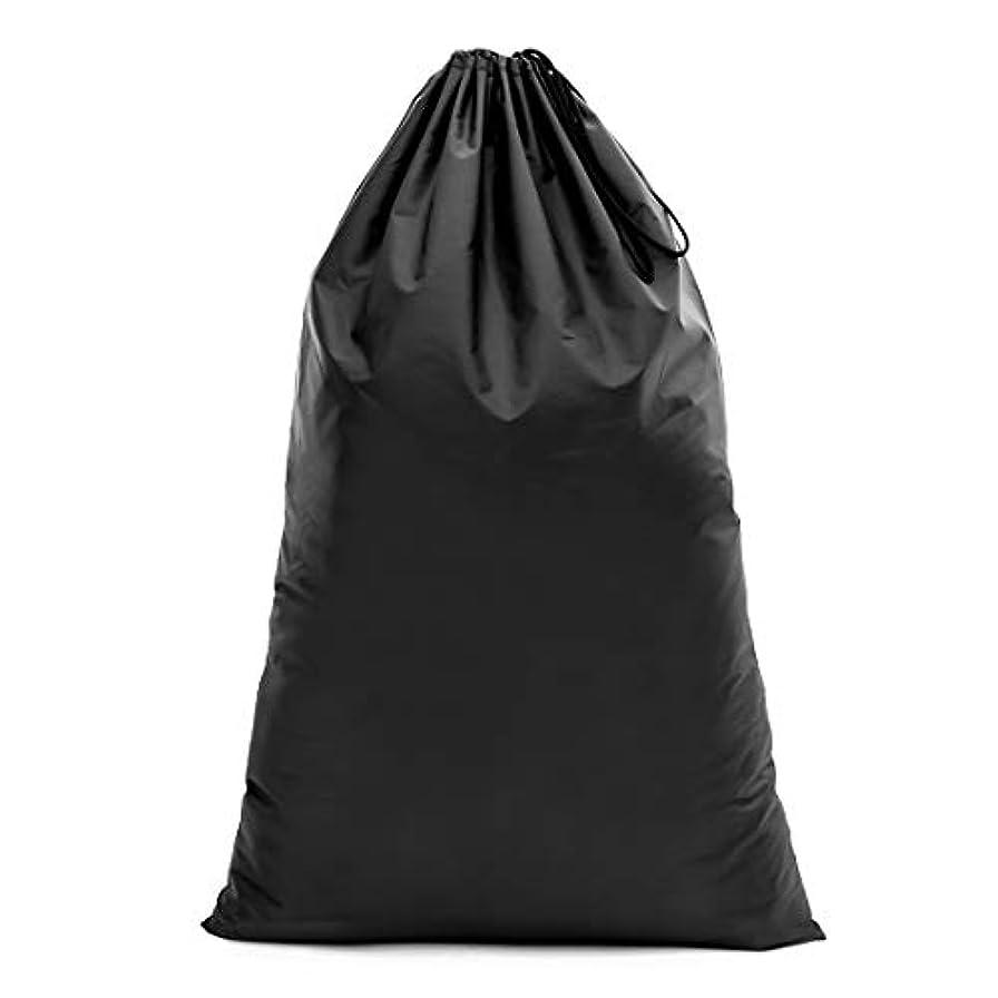 永久にスライス分数【Y.WINNER】特大サイズ 巾着袋 収納袋 (70*45CM) 強力撥水加工 アウトドア キャンプ 旅行 バッグ 万能巾着袋 大きいサイズの着替え袋にも使える YWN9976K ブラック (106*70)