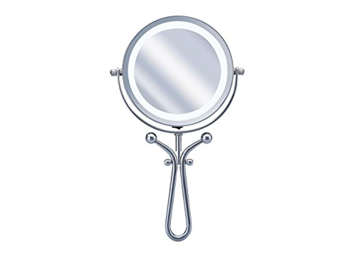 杖船員ペダルコイズミ 拡大鏡 LEDライト付き 1倍/7倍 手鏡/卓上型φ115mm KBE-3030/S