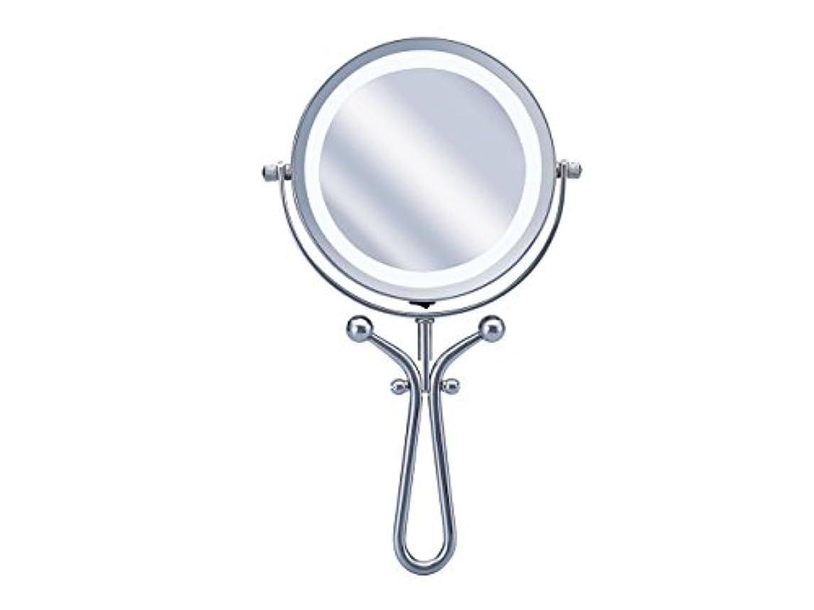 ジョージスティーブンソンブレイズ植物学者コイズミ 拡大鏡 LEDライト付き 1倍/7倍 手鏡/卓上型φ115mm KBE-3030/S