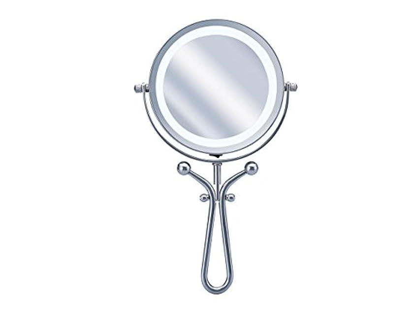 正しい前投薬時計コイズミ 拡大鏡 LEDライト付き 1倍/7倍 手鏡/卓上型φ115mm KBE-3030/S