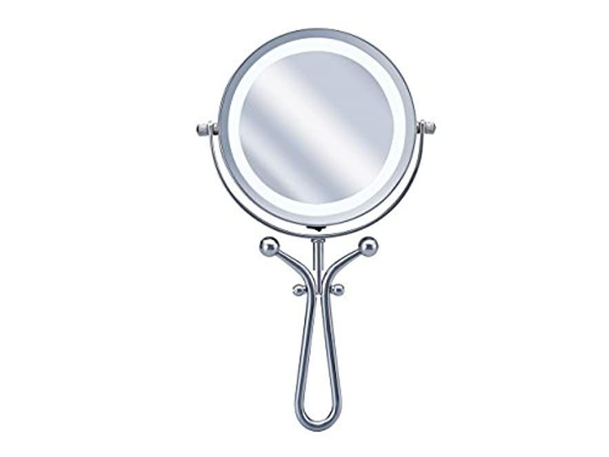 解釈する粉砕する人差し指コイズミ 拡大鏡 LEDライト付き 1倍/7倍 手鏡/卓上型φ115mm KBE-3030/S