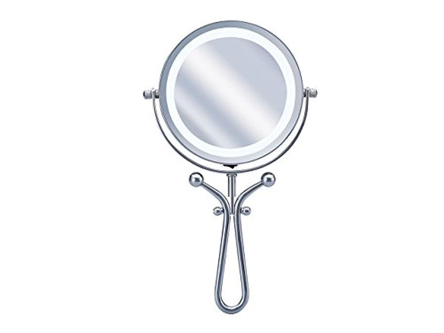 電極カウント軽食コイズミ 拡大鏡 LEDライト付き 1倍/7倍 手鏡/卓上型φ115mm KBE-3030/S