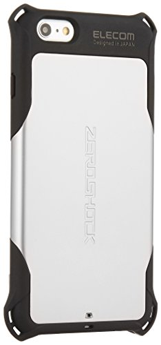 ELECOM iPhone6S Plus iPhone6 Plus ZEROSHOCKケース シルバー PM-A14LZEROSV