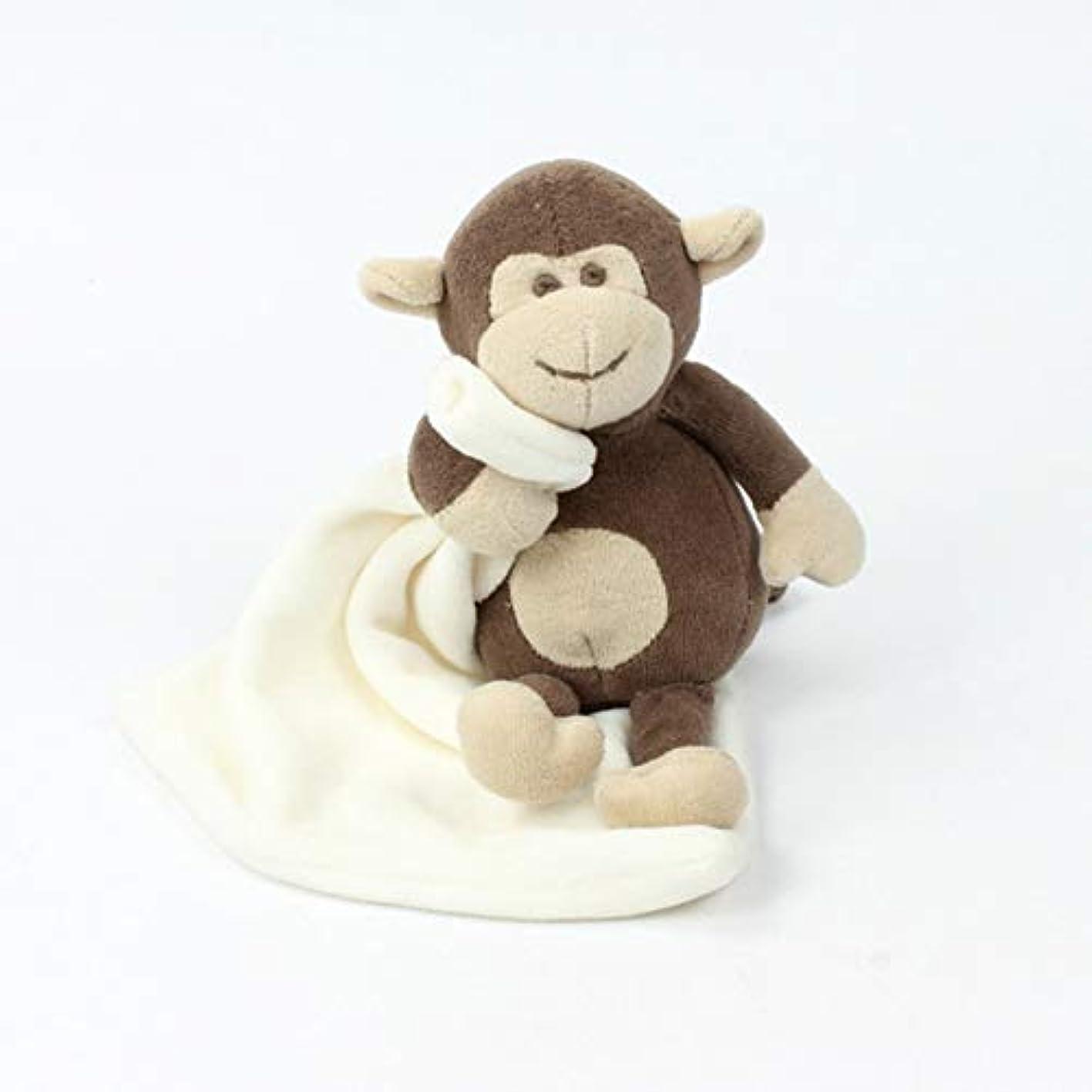 叱るデータベースしたがってベビー用癒しタオル ぬいぐるみタオル キッズ用抱っこタオル 抱っこ毛布 安心毛布 寝かしつけ用 赤ちゃんタオル おしゃぶり 癒し 可愛い小猿 ふわふわ お出産祝い