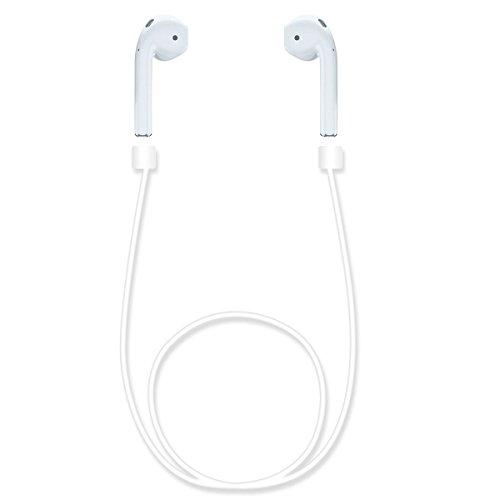 EReach AirPods 用 ネックストラップ 紛失落下防止 シリコンケーブル iPhone7 / iPhone7 Plus アップル ワイヤレス イヤホン ストラップ スポーツイヤホンケーブル (ホワイト)