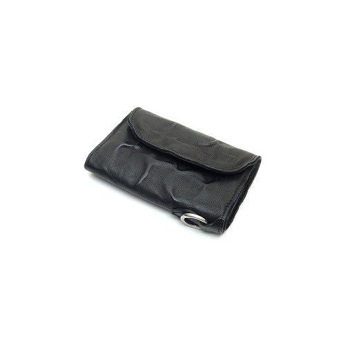 MR.OLIVE(ミスターオリーブ) ME101-BK ブラック レザーウォレット/ショート/ウォッシュレザー/シワ加工/牛革 財布
