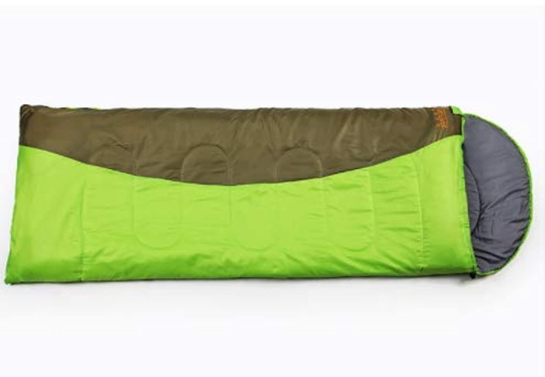 見ました差別化する銀行KYAWJY ダブル寝袋厚手の冬の季節の封筒汚い大人の屋外旅行寝袋を接合することができます