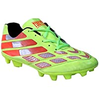 FIRE FLY Messi Green Football Shoes TPU Men PU Light Weight Outdoor Soocer Stud US Size