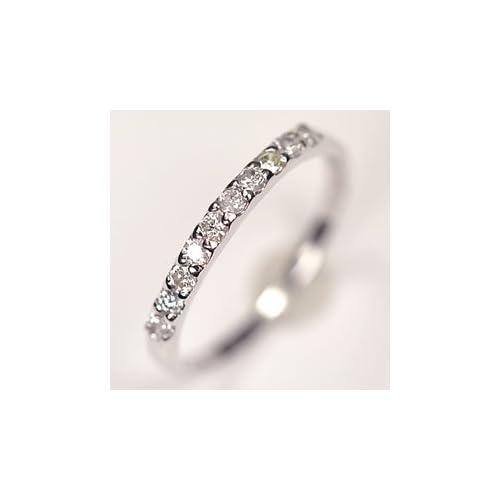 [キュートジュエリー]Cute jewerly ダイヤモンド 指輪 K8WG ダイヤ0.25ct (鑑別書カード付) エタニティー10リング 8
