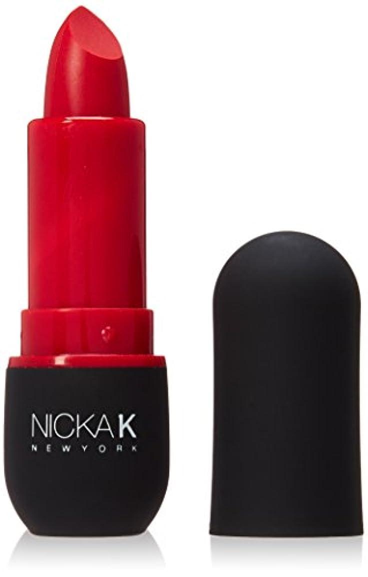 忘れっぽいまぶしさフォーマットNICKA K Vivid Matte Lipstick - NMS02 Red (並行輸入品)