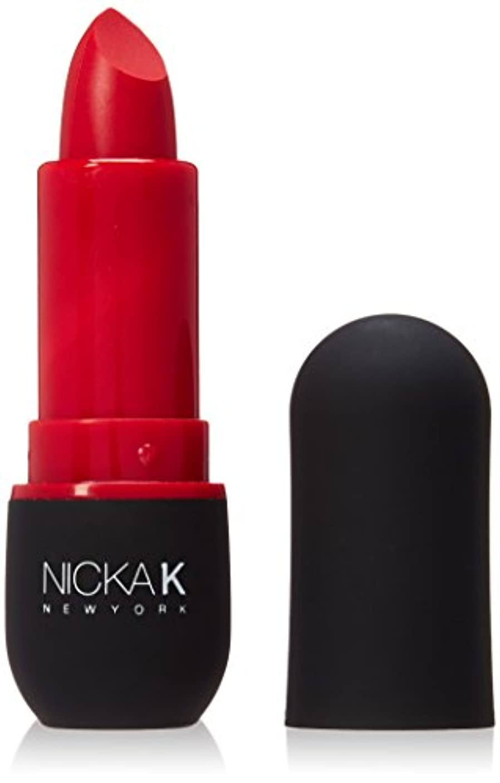 死ぬ感情階下NICKA K Vivid Matte Lipstick - NMS02 Red (並行輸入品)