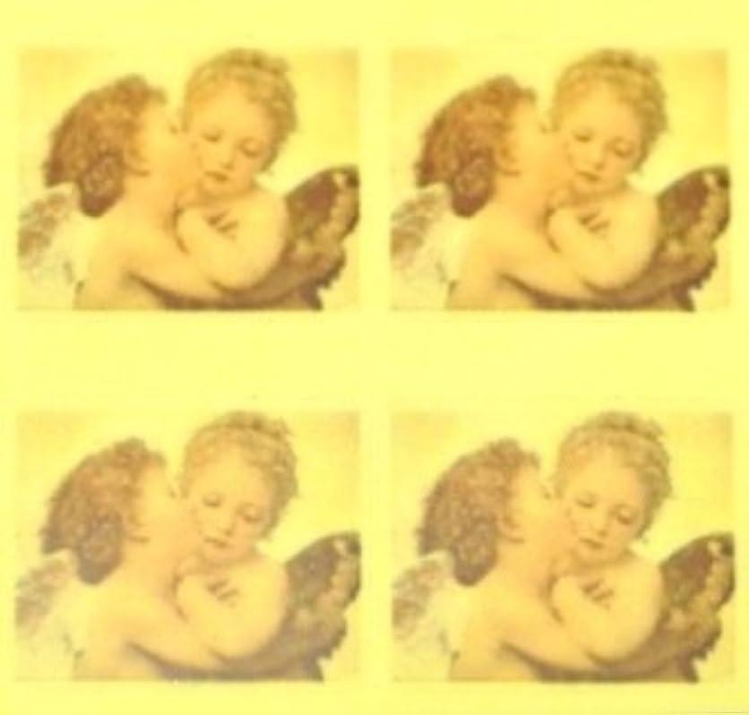 誘導リムセラーエンジェル?絵画【ロココ ネイルアートシール】天使(2)/1シート4枚(半透明)