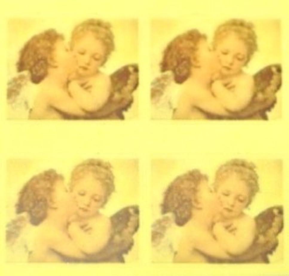 コンパクト順番靄エンジェル?絵画【ロココ ネイルアートシール】天使(2)/1シート4枚(半透明)