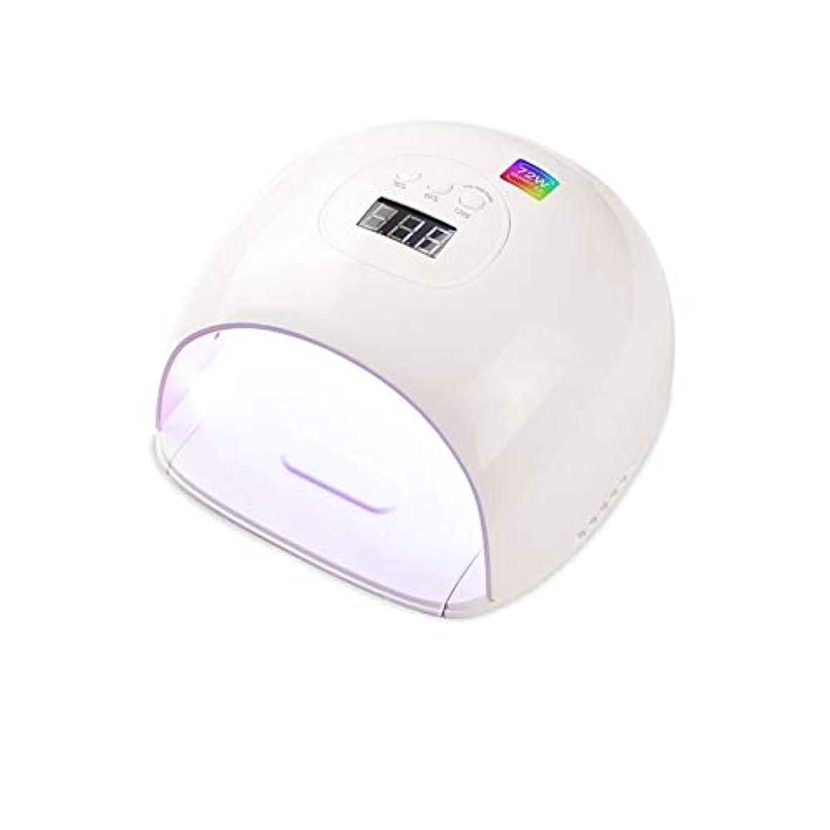 背骨望むペーストLittleCat UV / LEDランプスマートセンサネイルUVランプ電力72Wプラスチックポーランドドライヤー (色 : European standard circular plug)