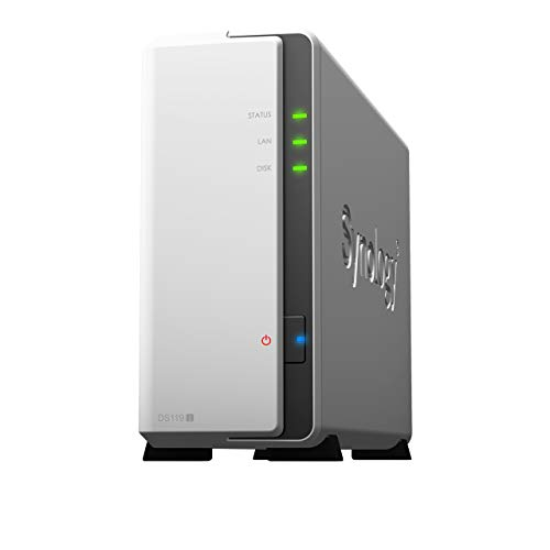 Synology DiskStation DS119j 1ベイ NAS キット 日本正規代理店アスク サポート対応 デュアルコアCPU搭載 保証2年 CS7434