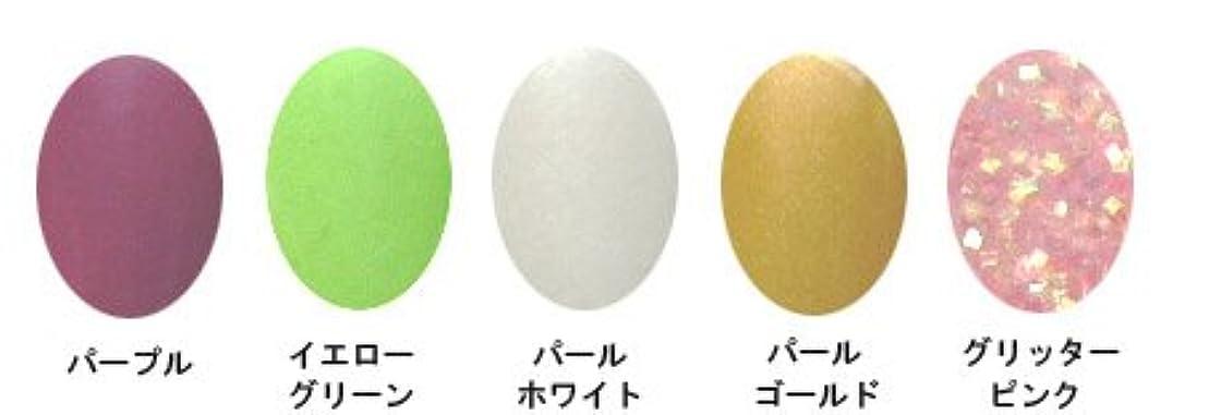 ボア確認する円形のアクリルカラーパウダー 5g (5色???) A